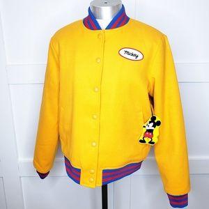 Forever 21 Disney Mickey Mouse Bomber Jacket Coat